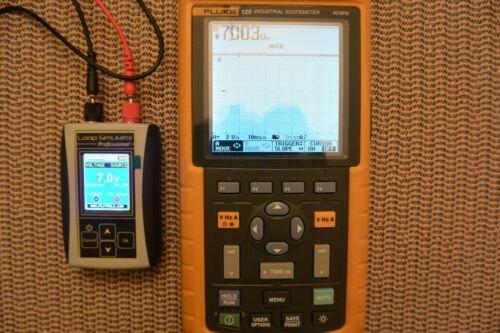 Fluke 125 Industrial ScopeMeter Handheld Oscilloscope 40 MHz Kit. Read!