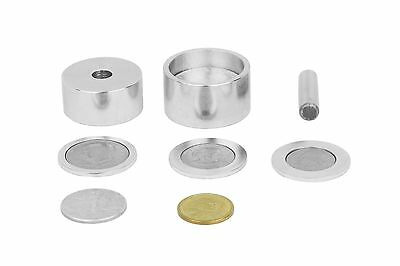 "Coin ring punch and die set (3/8"" hole) with 3 spacers."