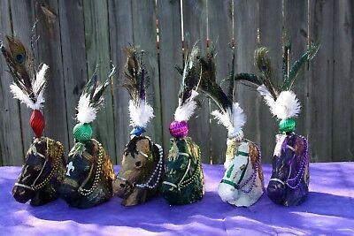 Mardi Gras Papermache Horse Horseheads Table Centerpieces Party Decor - Mardi Gras Table Decor
