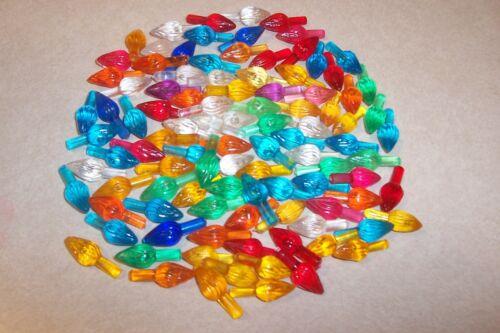 Vintage 100 Plastic Twisted Light Ceramic Christmas Tree Mixed Colors Medium