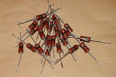 Lot Of 25 Nos 75 Ohm 1w Vintage Piher Resistors Tested