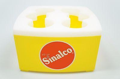 Sinalco Brause Flaschenkühler - Gelb für 6 Colaflaschen Softdrink Limonade NEU