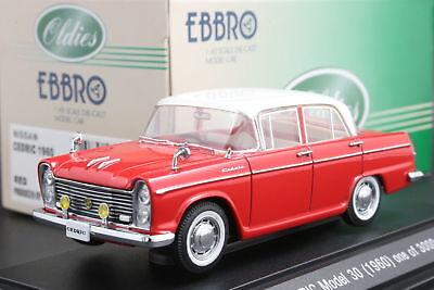 EBBRO 1:43 SCALE NISSAN CEDRIC DELUXE 1500 SEDAN 1960 DIE CAST MODEL CAR
