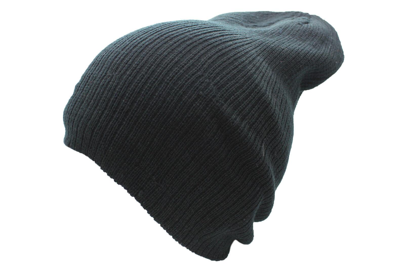 46fda7b8f60c4 Unisex Baggy Fit Beanie sombrero del invierno Soft Feel Slouch Gorro de lana  4 Colores