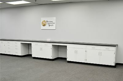 24 Fisher Base Laboratory Furniture Cabinets Case Work Benches Tops Lab Ind.--