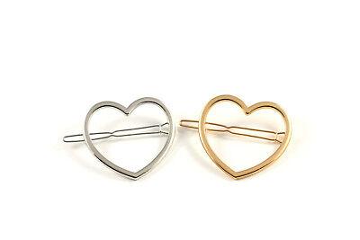 Haarklammer Haarspange Herz Heart gold silber Haarschmuck A532 ()
