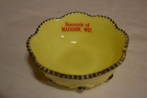 "Madison Wis. Custard Glass Bowl 4"" diameter"