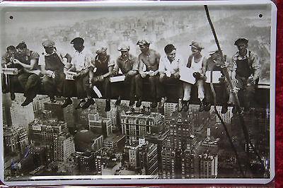 Breakfast über den Dächern von New York Arbeiter Sign Blechschild Schild 20x30 online kaufen