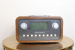 Crosley CR0-002A Radio Clock Alarm Ipod Vintage Style Power Cord Not Included