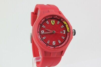 SCUDERIA FERRARI RED DIAL RED RUBBER BAND MENS WATCH SF.01.1.47.0072