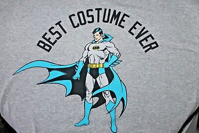 Men's T-Shirt Superman Batman Best Costume Ever XL Halloween New Years - Best Costumes For Men