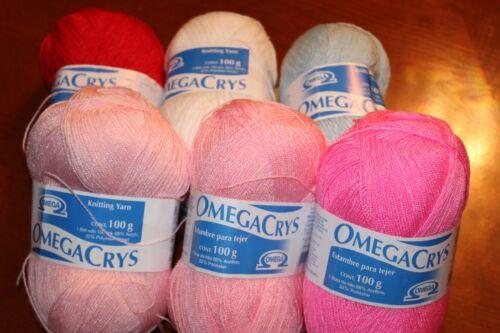 Omega Crystal 100gr, OmegaCrys, Crystal Thread, Hilo Crystal Various Colors
