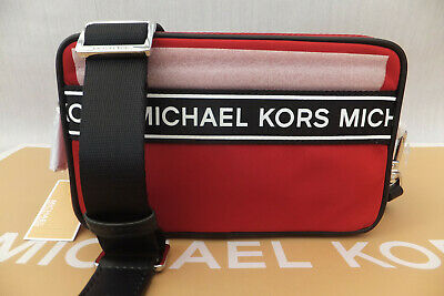 Michael Kors Genuine Kenly Sporty Crossbody Shoulder Bag Scarlet BNWT Red