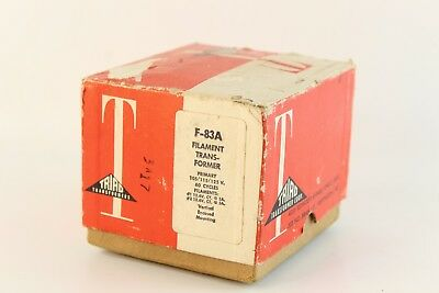 Triad Filament Transformer Model F-83a 60 Cps Filament Transformer With Box