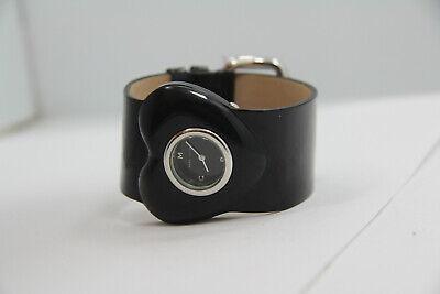 MARC JACOBS BLACK SHINY LEATHER HEART WATCH-MBM4001 NEW BATT