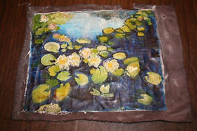 Claude Monet Old Oil on Canvas ORIGINAL OIL PAINTING HANDMADE cracks signed