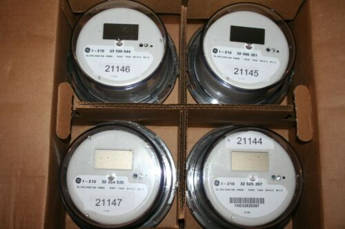 Case Of 4 GENERAL ELECTRIC, I-210, CL 200, 240V, 3W, LCD WATTHOUR METER, *NEW