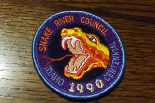 BOY SCOUT PATCH 1990 SNAKE RIVER COUNCIL IDAHO CENTENNIAL