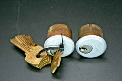 Storefront Door Mortise Two Lock Cylinders Keyed Alike with 5 Keys