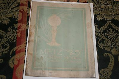 "RARE 1916 METZ MOTOR COMPANY MODEL ""25""  DEALER SALES BROCHURE  'ORIGINAL'"