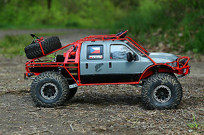 NEW Ford F350 Extended Cab Hardbody for Tamiya High Lift RC Axial SCX10 RC4WD