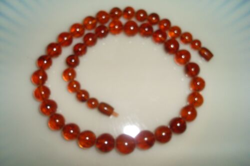 Vintage 1940s BALTIC AMBER  GRADUATED,  BEADS NECKLACE