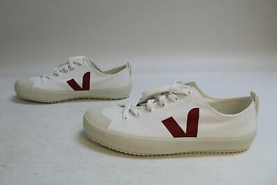 Veja Women's Nova Canvas Lace-Up Trainers MW7 White Marsala Size US:9 UK:7