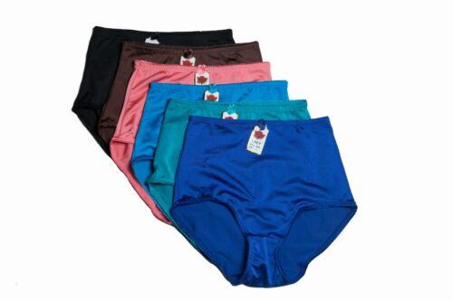 Lot 6 Panties Briefs Girdles Full Cover Solid Colors S M L XL 2XL 3XL 4XL 5XL