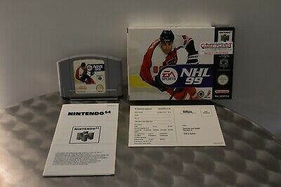 NHL 99 Nintendo 64 N64 (pal) Eishockey 1-4 Spieler mit Hülle & Anleitung