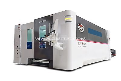 NEW NEW RMT - KYSON FIBER LASER 6' X 13'  DUAL TABLES 4 KW