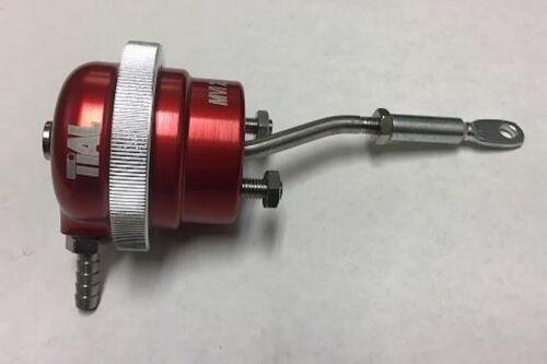 Billet Wastegate Actuator, Tial Pn:005410, Mvi-2.5, Red, 10 Psi, Bent Rod,0.7bar
