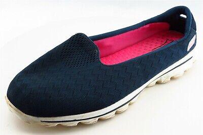 Skechers Gogamat Size 11 M Blue Slip On Walking Fabric Wmn Shoe