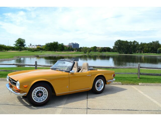 1972 Triumph TR-6 upgraded triumph TR6 Roadster Salon entry level restoration fresh no rust low miles solid