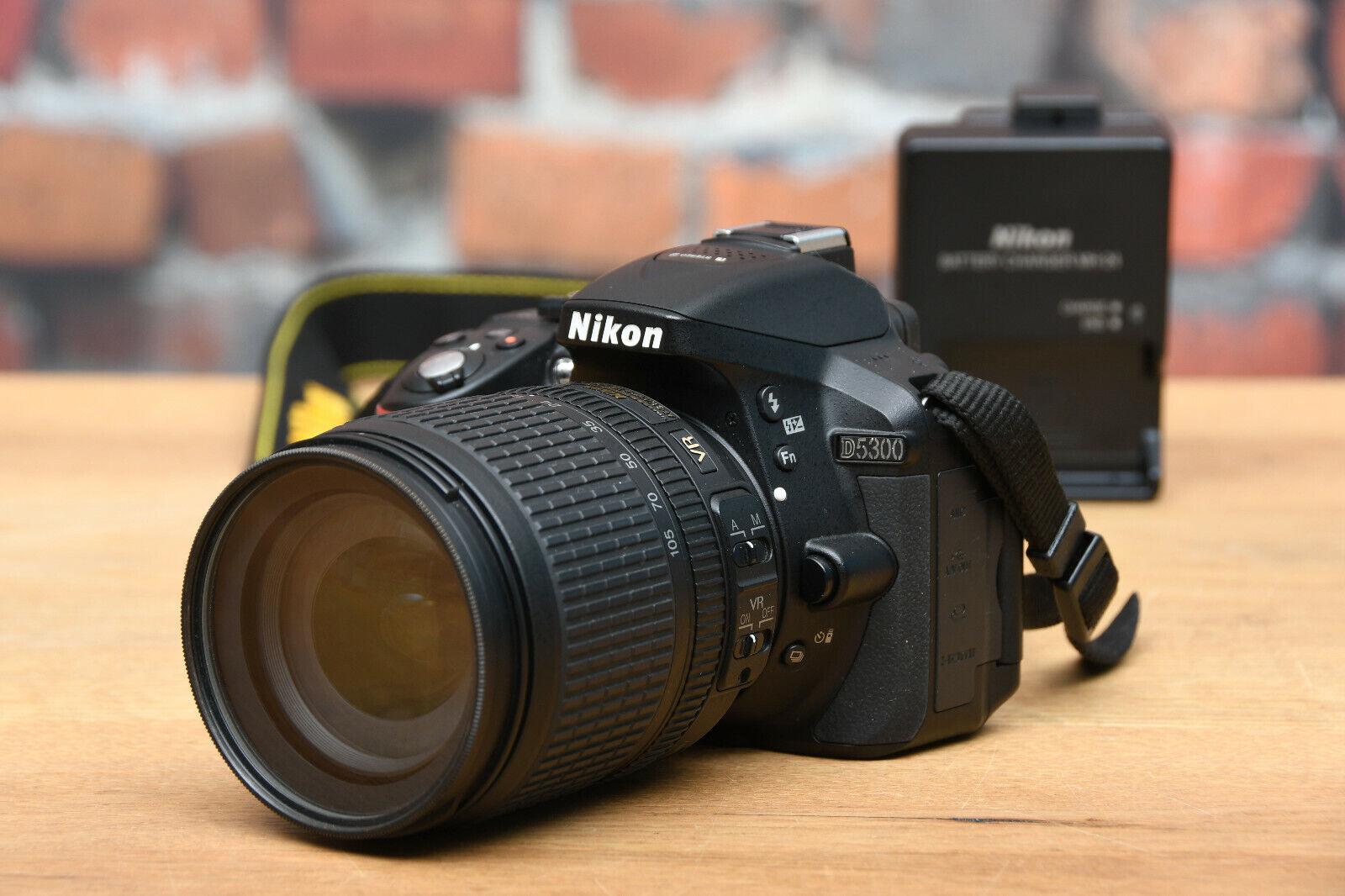 NIKON D5300 Digital Spiegelreflex Kamera + DX AF-S 18-105 mm 3,5-5,6 ED Objektiv