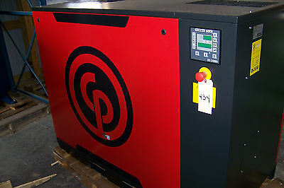 Chicago Pneumatic Qrs 25hp Electric New Rotary Screw Compressor With Dryer