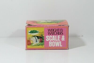 WEIGHT WATCHERS VINTAGE 1972 SCALE AND BOWL WITH ORIGINAL BOX (10)