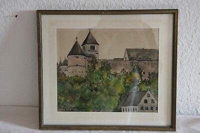 Schloss Wörth (bei Regensburg), Originalaquarell