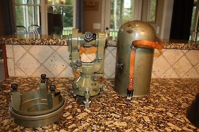 Nice Wild T2 Theodolite Heerbrugg Switzerland Sn T2-75800 With Case 2nd Owner
