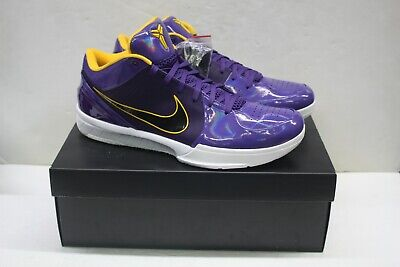 Nike Undefeated x Kobe 4 Protro 'Court Purple' Mens Sneakers Size 15 US