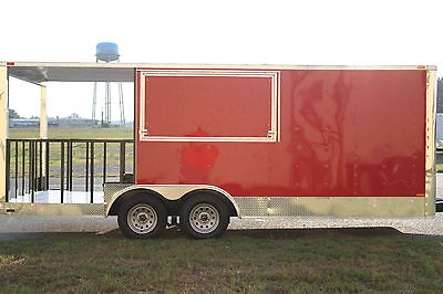 8.5x20 8.5 X 20 Enclosed Concession Food Vending Bbq Trailer 6 Porch Any Color