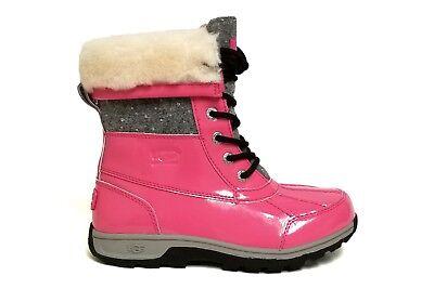 UGG Australia Big Kids' BUTTE II PATENT SPARKLE Boots Pink 1019209K K / PAZ b - Childrens Pink Patent Boots