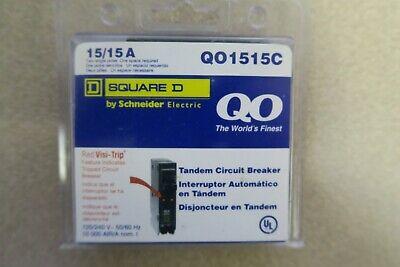 Square D Qo1515c 15 A Two-single Poles Tandem Circuit Breaker New Ships Free