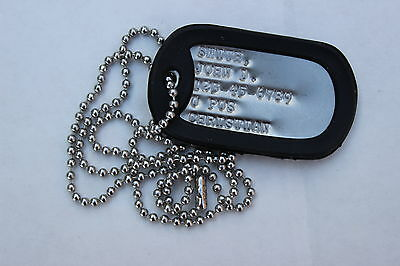 Real Debossed Custom Personalized Embossed Military Army Dog Tag Made Just For U