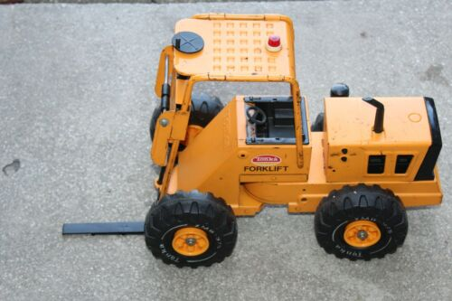 VINTAGE 1960-70'S CLASSIC TONKA FORKLIFT PRESSED STEEL YELLOW