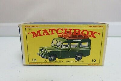 Vintage Lesney Matchbox #12 Safari Land Rover Car Empty Original Box Only