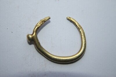 ANCIENT GREEK HELLENISTIC GOLD EAR RING 3rd CENTURY BC