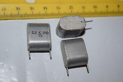 Original 2.2k 250ts Radial Vintage Capacitor New Quantity-10