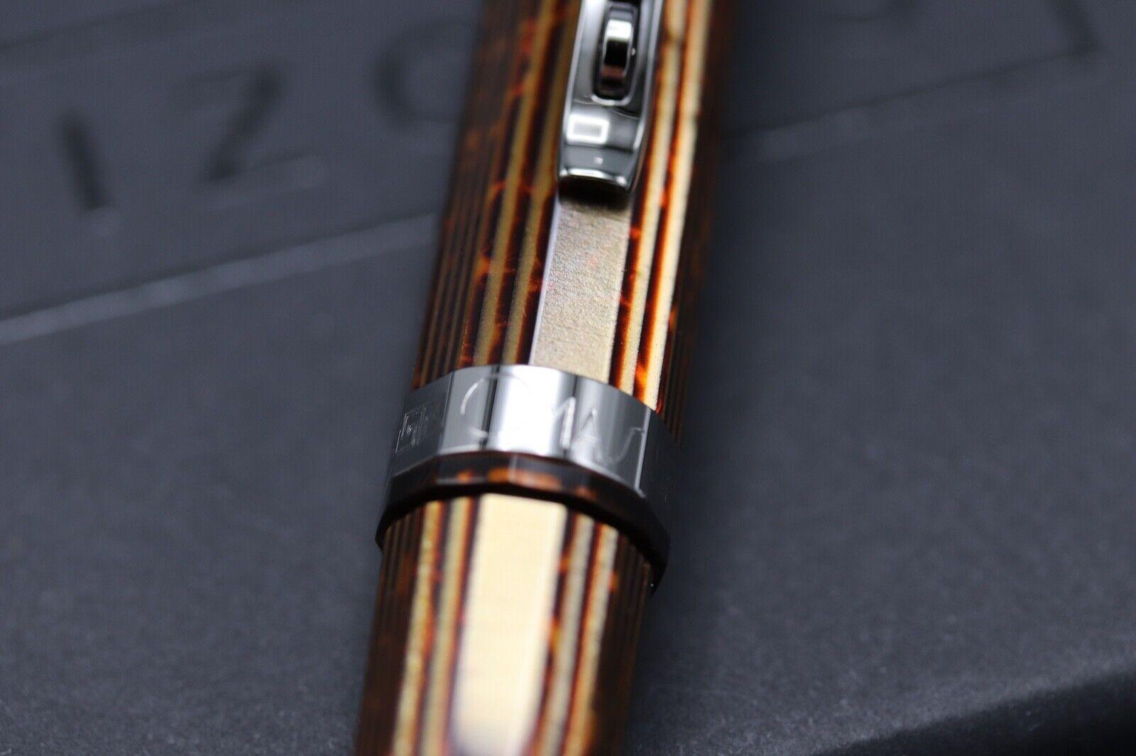 Omas Milord Arco Bronze Celluloid Ruthenium Trim Ballpoint Pen 2