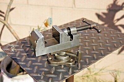 Vintage Yankee No.992 Drill Press Machinist Vise 2 Jaws With Swivel Base