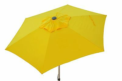 Patio Gift - 8.5' Sunflower Yellow Push Up Market Umbrella Patio Outdoor Cover FREE GIFT